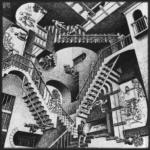 Escher - staircases 512px