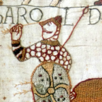 Harold shot by arrow - Bayeux Tapestry